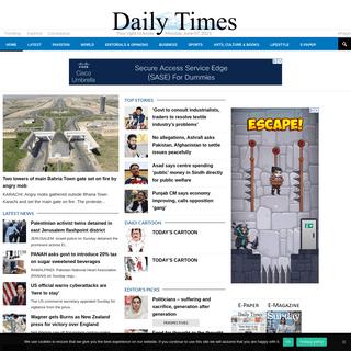 Daily Times - Latest Pakistan News, World, Business, Sports, Lifestyle
