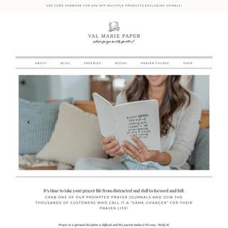 Val Marie Paper - Prayer Journals, Motherhood, and Inspiration
