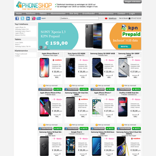 Goedkoopste GSM aanbiedingen, GSM abonnement of losse GSM kopen - Phoneshop.nl