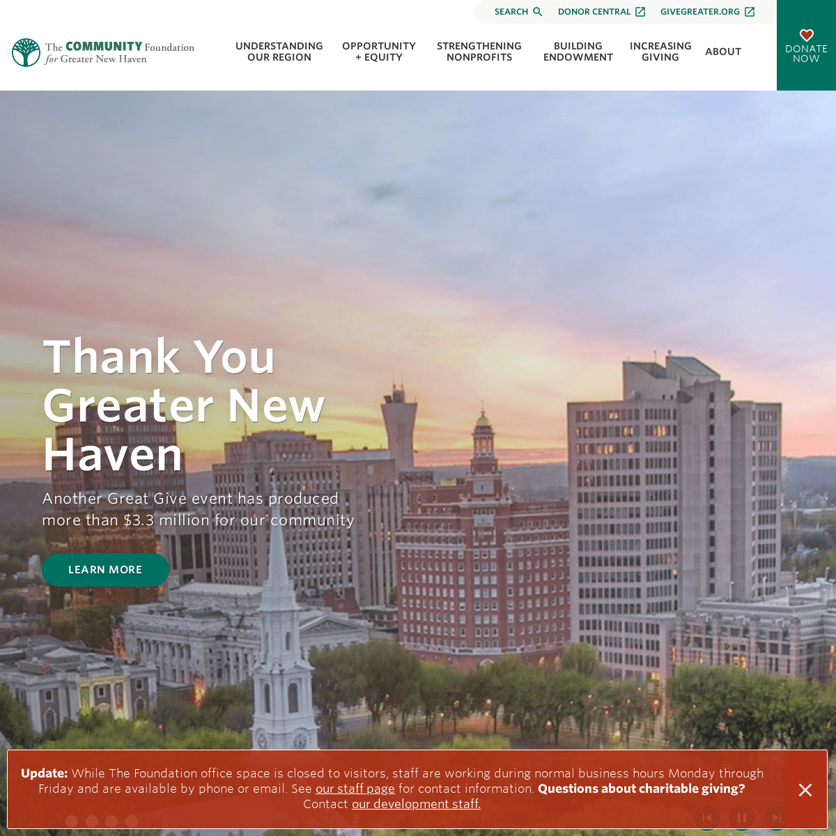 Homepage - The Community Foundation for Greater New Haven