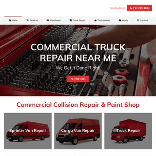 Sprinter Van & Truck Collision Repair Paint Shop - Truck Repair Near Me