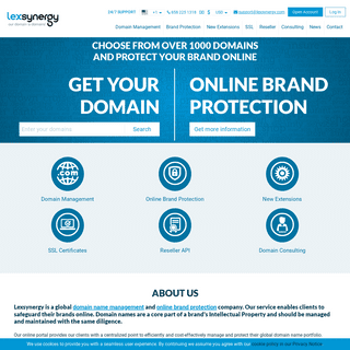 Our Domain is Domains™ - Lexsynergy Limited