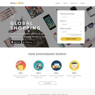 ShopandBox Global Shopping Redefined
