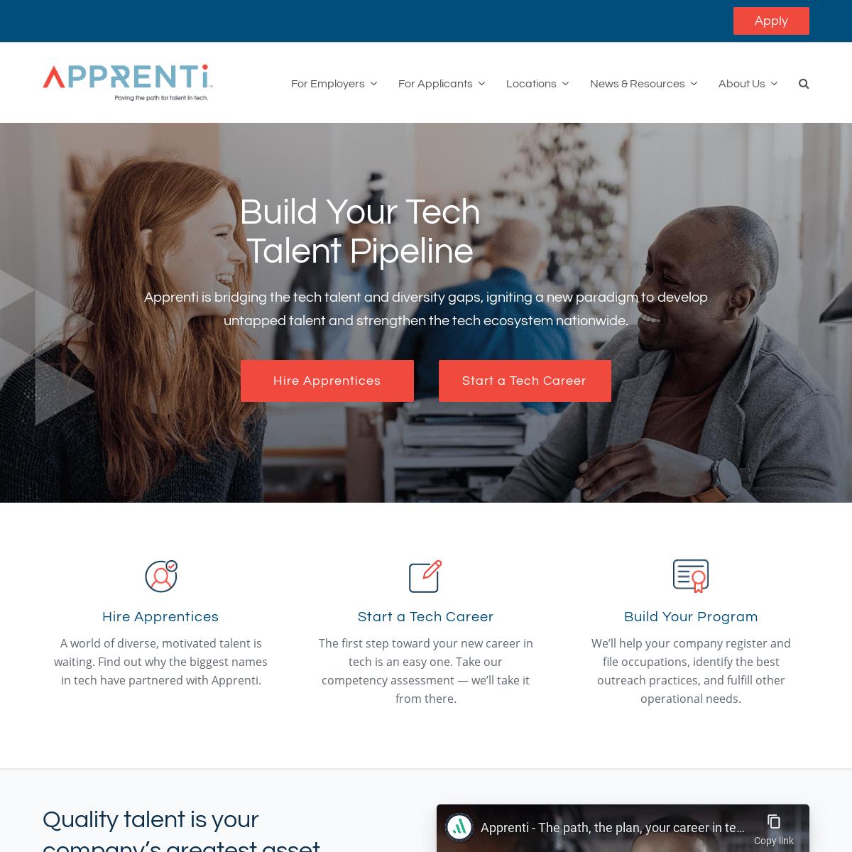 Apprenti - Hire Apprentices, Start a Tech Career