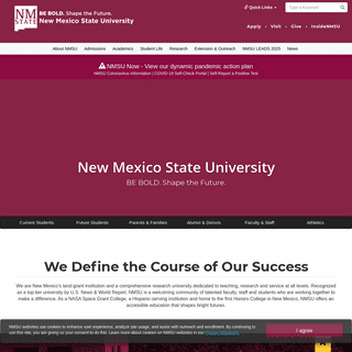 New Mexico State University - BE BOLD. Shape the Future.