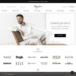 Pure Linen Home Textiles & Linen Wear - MagicLinen
