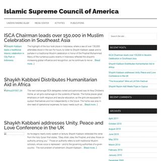 Islamic Supreme Council of America – Islamic Supreme Council of America