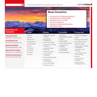 Kanton Schwyz – Infos, Behörden, Unternehmen, Privatpersonen