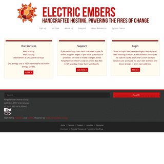 Electric Embers – Handcrafted hosting, powering the fires of change