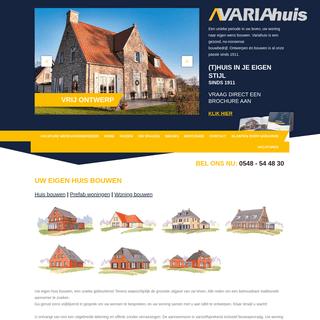 Variahuis - Ontwerpen en bouwen sinds 1911