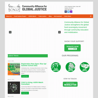 Homepage - Community Alliance for Global Justice