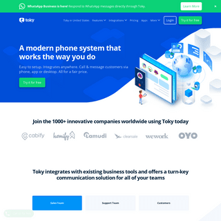 Toky- Business Phone System & Integrated VoIP Service