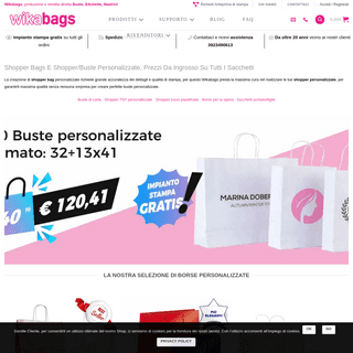 Stampa Shopper bags - Shopper personalizzate e Buste online