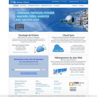 Archive-Host - Hébergement web et Stockage de fichiers