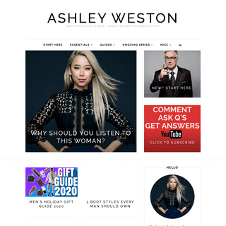 Ashley Weston - Men`s Style Advice & More - from a Celebrity Menswear Stylist