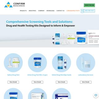 Drug Testing, Health Testing, Coronavirus Testing - Confirm BioSciences