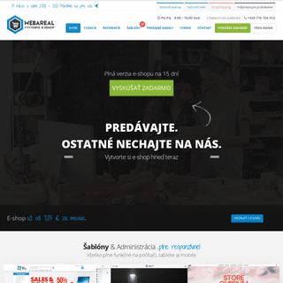 Webareal - vytvorte si e-shop jednoducho a rýchlo