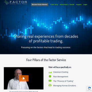 Factor Trading Service from Peter L. Brandt