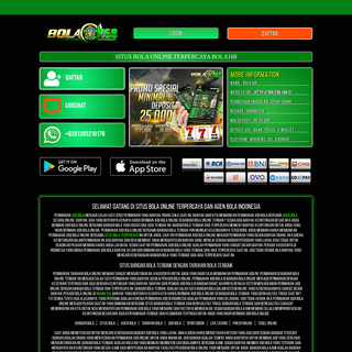 Bola168 - Situs Bola Online Terpercaya, Bandar Bola, Agen Bola Indonesia