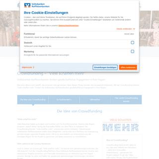 Crowdfunding – -Viele schaffen mehr- - Volksbank Raiffeisenbank