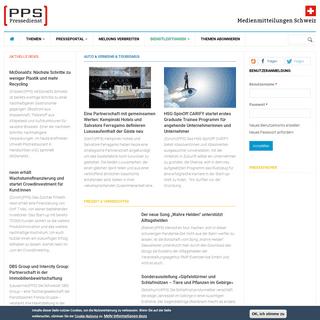 Presseportal Schweiz - Presse- und Medienmitteilungen - PPS Pressedienst