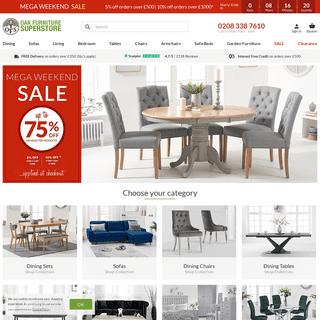 Oak Furniture Superstore - Solid Oak Dining & Living Room Furniture