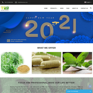 Herbal Extract, Animal Extract, Sweeteners, Plant Extract Oil - Tong Rui Bio-Tech