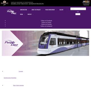 Maryland Purple Line - MDOT MTA Purple Line