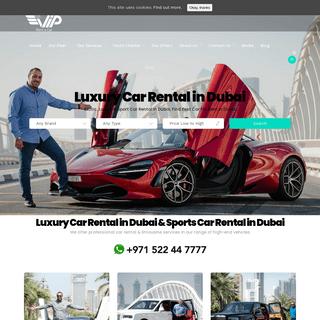 Luxury Car Rental in Dubai - Sports Car Rental Dubai - Exotic Car Rental