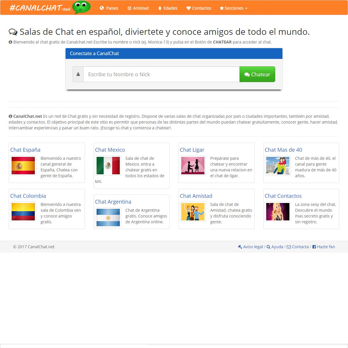 Chat gratis en español para hacer amigos
