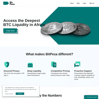 BitPesa - Africa`s Crypto and BTC Exchange – Access the Deepest BTC Liquidity in Africa