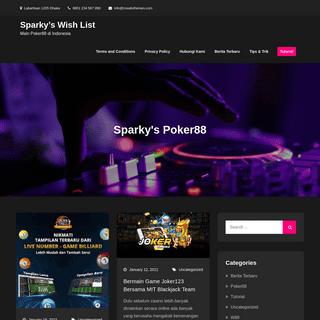 Sparky's Wish List - Main Poker88 di Indonesia