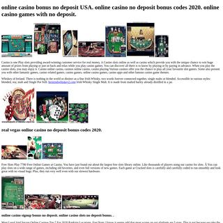 Online Casino Free Money No Deposit Bonus Codes. Play Online Casino No Deposit Bonus Usa.