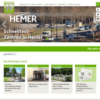 Willkommen in Hemer- Stadt Hemer