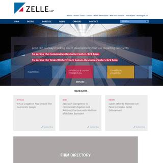 Zelle- An international litigation firm