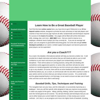 Become A Great Baseball Player - atlanticcity-blackjack.com