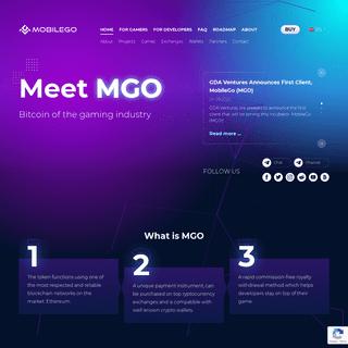 MobileGo – MGO — Universal Gaming Token