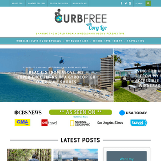 Welcome - Curb Free with Cory Lee- A Wheelchair Travel Blog