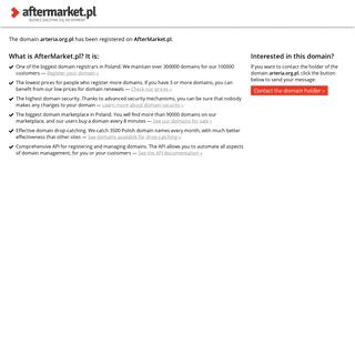 AfterMarket.pl -- domain arteria.org.pl