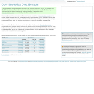 Geofabrik Download Server