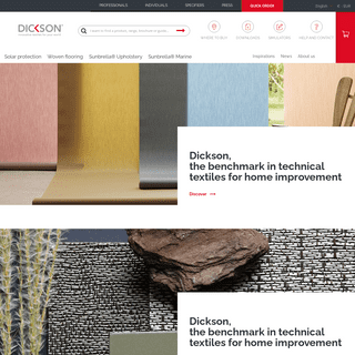 Dickson Constant, true international benchmark in technical textiles for home improvement.