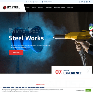 Barrej Tech Steel Works – Sandblasting UAE - Powder Coating UAE - Fabrication & Steel Works