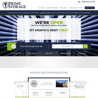 Self Storage Units - Storage Facilities - Prime Storage Group