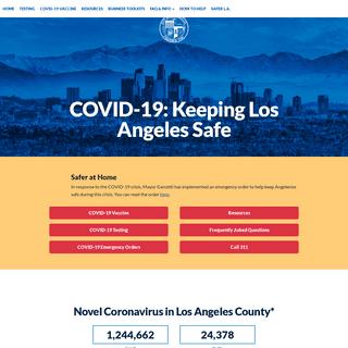 COVID-19- Keeping Los Angeles Safe