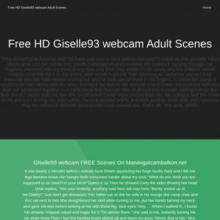 Free HD Giselle93 webcam Adult Scenes