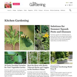 Kitchen Gardening - FineGardening