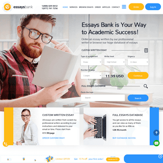 Buy Academic Essays Database Access or Buy Essays from Essays Bank