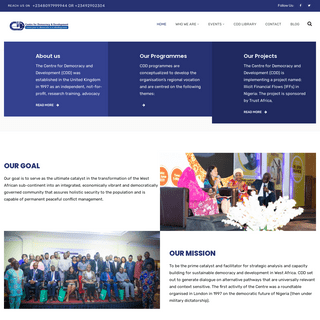 Centre for Democracy and Development - CDD - Home
