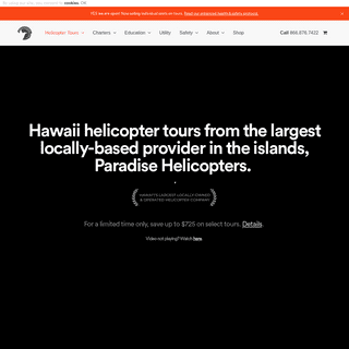 Hawaii Helicopter Tours - Paradise Helicopters - Official Site