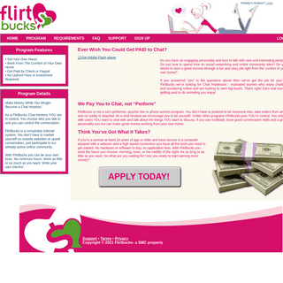 Get Paid to Chat - FlirtBucks - Chat Hostess Program